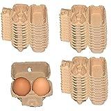 Cartones de Huevos Almacenamiento de Huevos Reutilizable, 12 Rejillas Bandeja...