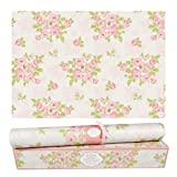 Elodie Essentials Scented Drawer and Shelf Liners - Vintage Charm - Six (6) Large 14 x 19½ Inch Sheets - Non-Adhesive Paper Sheets for Closet Shelves and Dresser Drawers - (Vintage Rose)