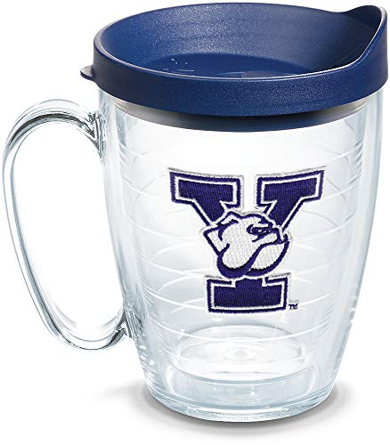 Tervis Yale Bulldogs Logo Tumbler with Emblem and Navy Lid 16oz Mug, Clear