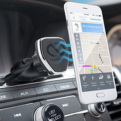 Naztech MagBuddy Car CD Slot Phone Mount Compatible for iPhone SE/11/Pro/Pro Max/XS/XR/X/8/8+,Galaxy S20/S10/S9/S8,Note10/9/8 & More [Easy Access]
