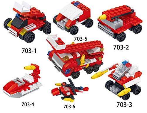 ML Juguetes De Construcción Mini Coches Juegos Vehículos para Niños Juego Tractor Camión Volquete Excavadora Remolque Juguete de Huevos Carro Coches Aviones Tractores Juguete Educativo (Rojo)