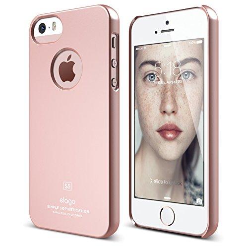iPhone SE case, elago [Slim Fit][Soft Feel Rose Gold] - [Light][Minimalistic][True Fit] - for iPhone SE/5/5S…
