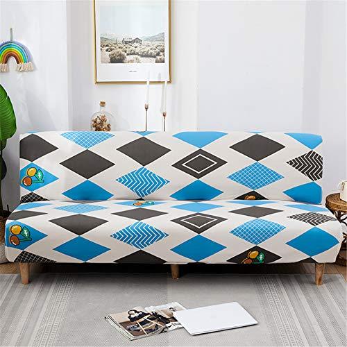 YCDZ Funda para sofá cama sin brazos, de poliéster y elastano, elástica, protector de 3 plazas, para sofá cama plegable, sin reposabrazos (#40)