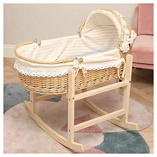 Fantastic Deal! HLR-Travel Beds Crib Travel,Portable Bamboo Fiber Material Car Go Out Basket (Color ...