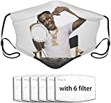 WTYQA Cubierta facial adecuada para cubierta de polvo con una válvula de Youngboy póster, cubierta portátil, filtro, unisex, pañuelo, pasamontañas