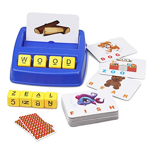 Matching Letter Game Preschool Educational Learning Alphabet Word Spelling Game Spelling and Reading Memory Game for Kids 3 Years & Up