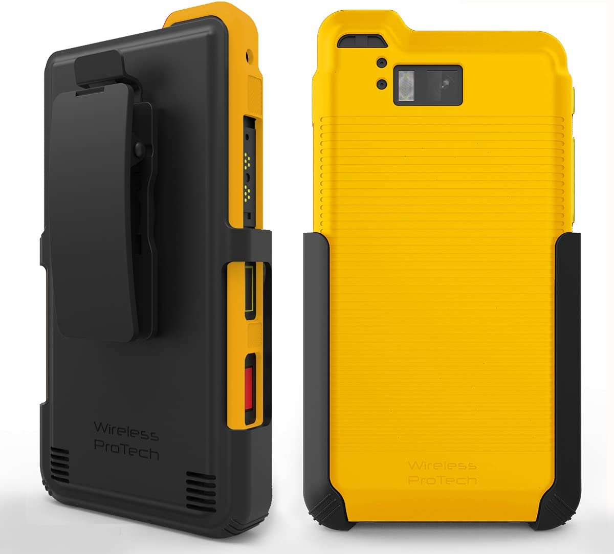Wireless ProTech Case with Clip Compatible with Sonim XP8 Phone Model XP8800. Heavy Duty Rotating Belt Clip Holster and Durable Flexible Protective Case Combo (Yellow)
