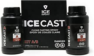 IceThin Epoxy Resin - 1:1 Crystal Clear Epoxy Resin - High Gloss Shine - The Best Artist Resin kit - Ideal For Clear Casti...