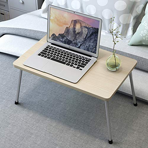 DESK Folding Lap Desk,brekfast Bed Table Notebook Stand Wood Lightweight Picnic Table Laptop Desk For Lap Couch Dorm Room-maple 48x30x25.5cm(19x12x10inch)