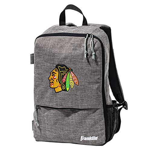 Franklin Sports Chicago Blackhawks Street Pack Rucksack – Team Logo Hockey-Tasche mit Hockeyschlägerhalter – NHL Offizielles Lizenzprodukt