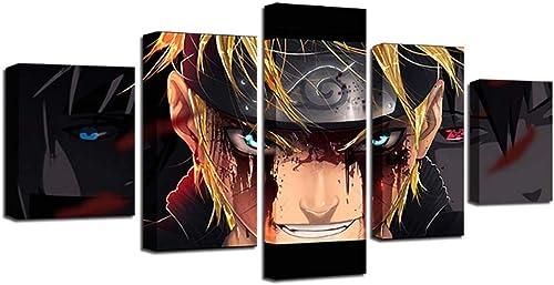 deportes calientes Loadfckcer 5 Panel Panel Panel de Parojo Art Naruto Prints en Lienzo la Imagen Decor para decoración de hogar Moderno  artículos novedosos
