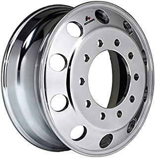 "Accuride 19.5"" x 7.5"" Aluminum 10 Lug on 285mm Semi-Polished Wheel (29685SP)"