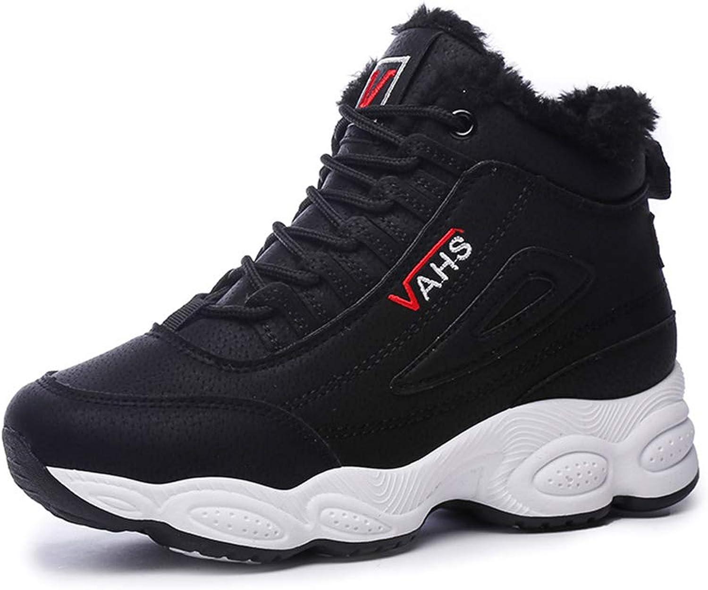 He-yanjing shoes Sports shoes 2018 Winter Plus Velvet shoes Korean Version Harajuku Sports Running shoes