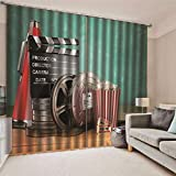 JRCURTAIN Rideau 3D Popcorn, Film Rideau Occultant en Polyester pour Chambre d'enfant...