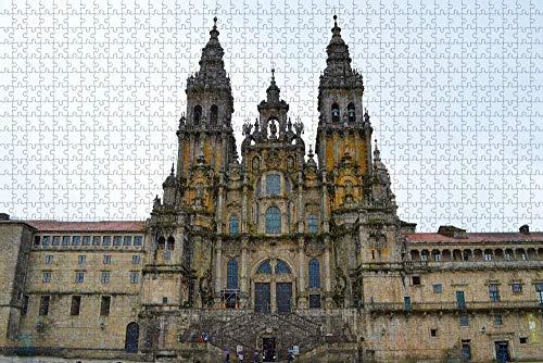 Puzzle para Adultos España Santiago de Compostela Puzzle 1000 Piezas Recuerdo de Viaje