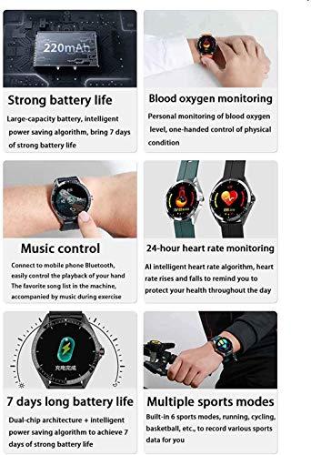 Gps Smart Watch Hombres Con Tarjeta Sim Cámara Smartwatches Detección De Frecuencia Cardíaca Teléfono Deportivo Conectado Reloj-Azul