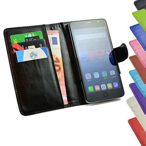 ikracase Tasche für TP-Link Neffos C5s Hülle Cover Hülle Etui Handy-Tasche Schutz-Hülle in Schwarz