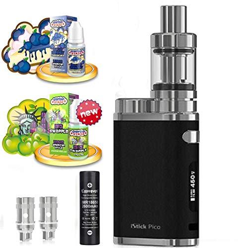 E-Zigarette SC produced by Eleaf Pico iStick 75W Starterset 2600mAh | TC (Temperaturregelung) | mit American Stars Liquids - 00mg Rauchen ohne Nikotin