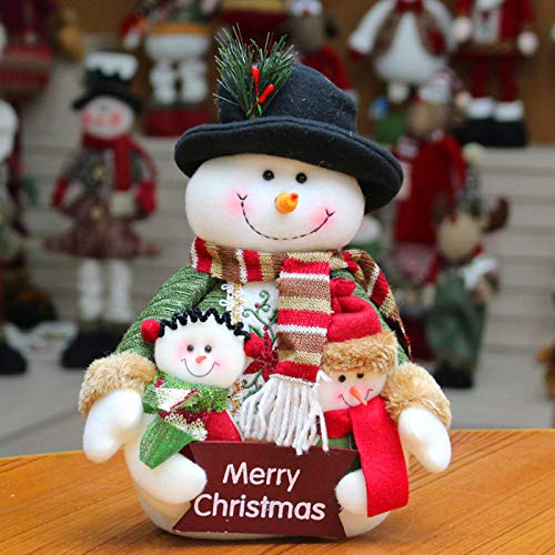 langchao Muñeca de Navidad Retrato de Familia de Navidad Muñeco de Nieve Anciano Decoraciones navideñas