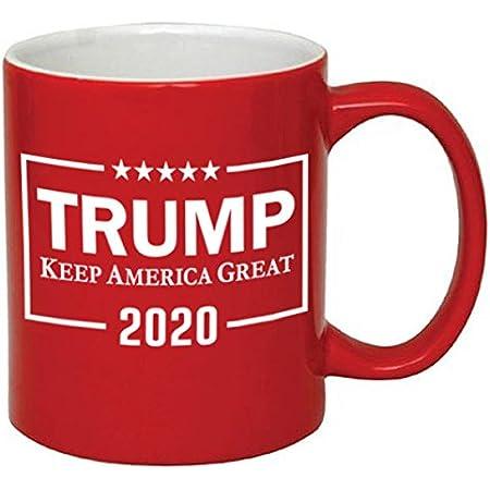 KEEP AMERICA GREAT RED COFFEE MUG CERAMIC 11 OUNCES