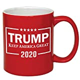 P&B Donald Trump, Make America Great Again Ceramic Coffee Mugs PB102 (11 oz, Red/Trump_2020)