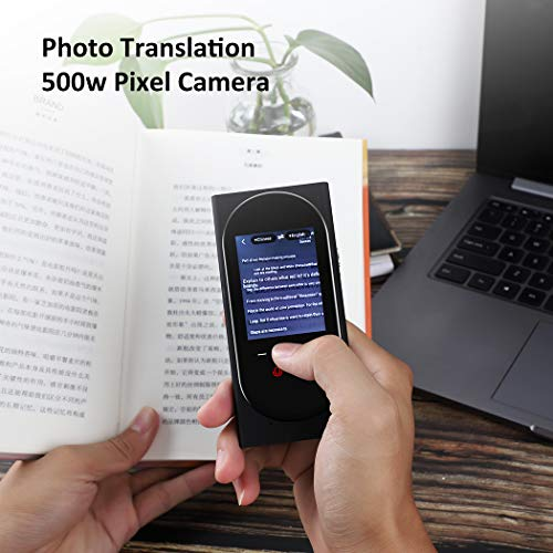 DUTERID Voice Translator Device with Camera Translation Function,Support 106 Language,Portable Two-Way Voice Interpreter for Traveling Learning Chatting Business (Black) Photo #5