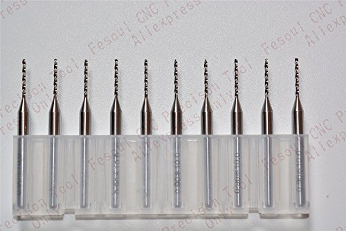 Generic 3.175mm*0.85mm,10pcs, PCB Drill Bit,CNC milling Cutter,Solid carbide Drill,mold,plastic,copper,stainless steel