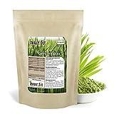 Polvere erba d'orzo puro Nurafit, interamente vegana e senza glutine, prima qualità certificata, polvere d'orzo priva di additivi, polvere d'orzo per frullati, 500g / 0,5kg