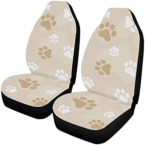 Enoqunt hond pootafdrukken autostoelbekleding voorstoelen auto zitkussen fcar
