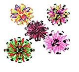 QuStars Gloworks Pack of 10 Expandable Sphere Transforming Mini Ball Toy Assorted Rainbow