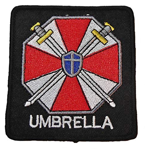 Resident Evil Umbrella Corporation Symbol and Name Embroidered Patch