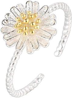 Lozse Anelli regolabili Aprire placcatura anello regolabile dell'argento anti-amico di famiglia di allergia anello laurea ...
