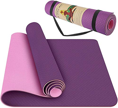 StillCool TPE Yoga Mat Non Slip Fitness Exercise Mat High Density Padding to Avoid Sore Knees, Perfect for Yoga, Pilates and Fitness, Anti - Tear, Sweat - Proof, 1/4 Inch Thick