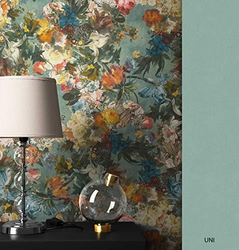 NEWROOM Blumentapete Tapete bunt Blumen Floral Vliestapete Vlies moderne Design Optik Floral Modern inkl. Tapezier Ratgeber