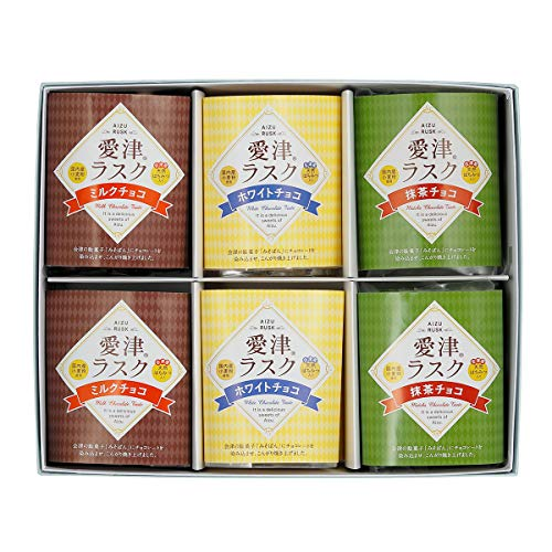 愛津ラスク ミルク ホワイト 抹茶チョコ 詰合せ〔3種×各4〕