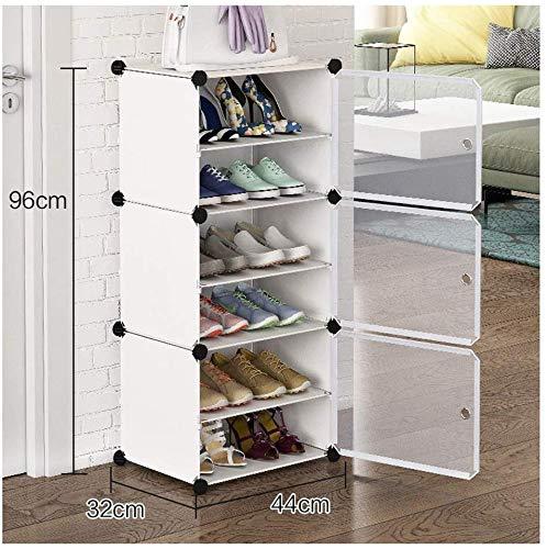 FF Schoenrek thuis Stofdicht schoenrek 1 rij 6 lagen goedkoop geassembleerde plastic kast (kleur: A)