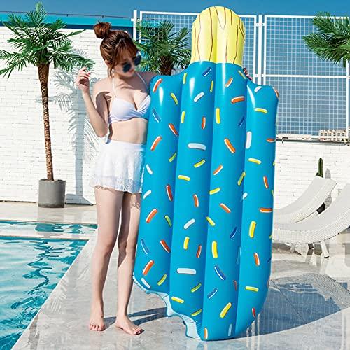 BDBY Fila Flotante Inflable Gigante de Helado de Pareja, colchón de Agua de la Playa de la Playa de la Piscina de PVC Engrosada, Juego de Juguete al Aire Libre para niños A