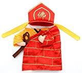 Funny Dog Cat Buddha Costumes Tang Monk Cosplay Suit Pet Apparel (M)