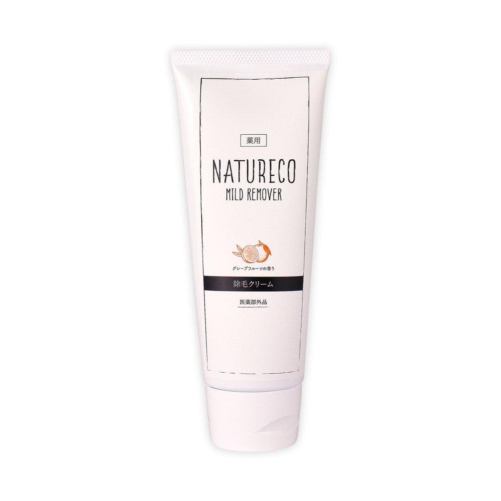 隠す神話ドレインナチュレコ 除毛クリーム 薬用 120g<さわやかな香り> 脱毛クリーム 肌に優しい除毛クリーム 肌荒れしにくい成分配合 薬用マイルドリムーバー NATURECO