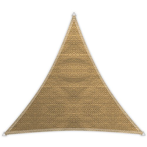 Windhager 10963 - Vela de sombra para patio, triangular 3.6 m, color caña