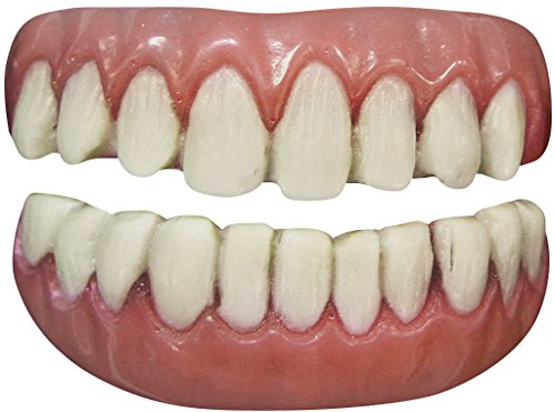Tinsley Transfers Long Tooth False Teeth FX (2 Piece), White/Pink