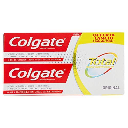 Colgate Total Original Dentifricio, Maxi Formato, 6 Tubi da 75 ml