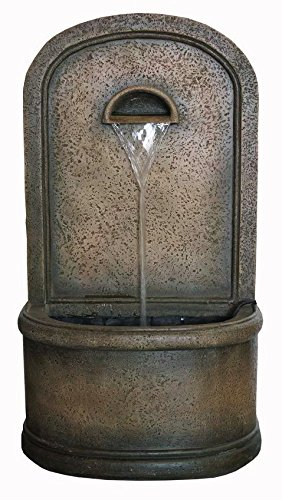 "The Chateau 30"" Floor/Wall Fountain: Outdoor Water Feature perfect for Patios, Welcome Areas, Porches, Decks, Gardens and Other Living Spaces"