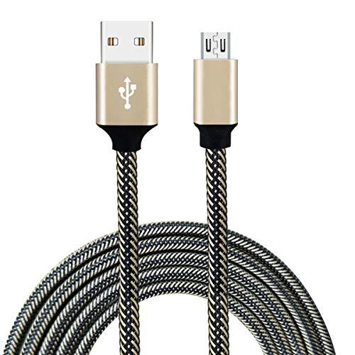 Nihlssen Cable de Carga del Cargador de sincronización de Datos Micro USB Trenzado de Nailon 3A para Samsung Galaxy para Xiaomi para Huawei