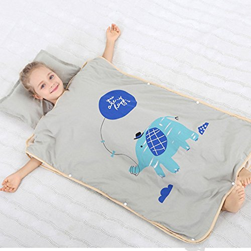 XING GUANG Baby Bein Schlafsack Outdoor Schmutzigen Kind Baumwolle Hause Service Pyjamas Cartoon ärmellos Anti-Kick-Schlafsack,Elephants-XXL