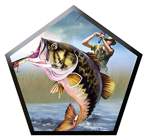 Largemouth Bass Fishing Vinyl Bumper Sticker Boat Decal Fishing Tackle Boxes Stickers Fish Decals Car Fishing Boating Tackle Box Funny Stickers Bass Fishing Decals for Trucks USA America S029