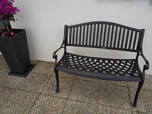 Lazy Susan Furniture – Grace Metall Gartenbank Antique Bronze (kein Kissen) - 3