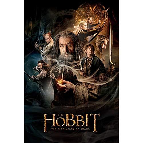 UHvEZ Hobbit 1000pcs_Adult Rompecabezas de Madera Imagen de Montaje de Madera Juguetes para Adultos niños Juegos para niños Juguetes educativos 50x75cm