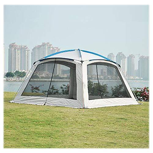 HUOFEIKE 3.6X3.6M Heavy Duty Gazebo Wasserdichtes Zelt Im Freien Markise Ereignis Shelter Zelt Für Party Hochzeit Mit 4 Abnehmbare Seitenwänden (2 Mit Windows-2 Mit Zip)