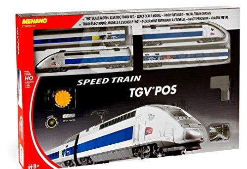 Mehano TGV Pos-Juguete modelismo ferroviario T103, Color Gris y Azul, h0